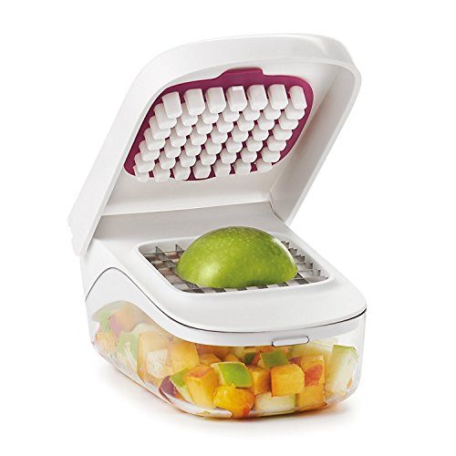 41jPwTMkMqL. SS500  - OXO Good Grips Vegetable Chopper with Easy Pour Opening - White