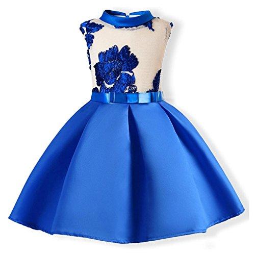2969d203a6735 Amlaiworld ❤️Robe de Filles Filles Robe Princesse Enfants Partie Fleurs Robe  de Broderie Robes de