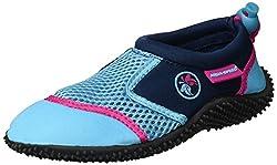 Aqua Speed Aquaschuhe - Wasserschuhe Für Strand - Meer - See - Ideale Badeschuhe als Schutz Für Füsse - #AS14, Türkis/Navy/Pink, 31