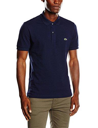 Lacoste Herren Poloshirt PH4012-00, Slim Fit, Gr. X-Large (Herstellergröße: 6), Blau (Navy Blue 166) (Polo Männer-unterwäsche)