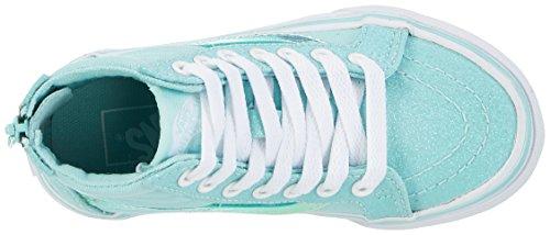 Vans Mädchen Uy Sk8-Hi Zip Hohe Sneakers Blau (Glitter And Iridescent Blue/true White)