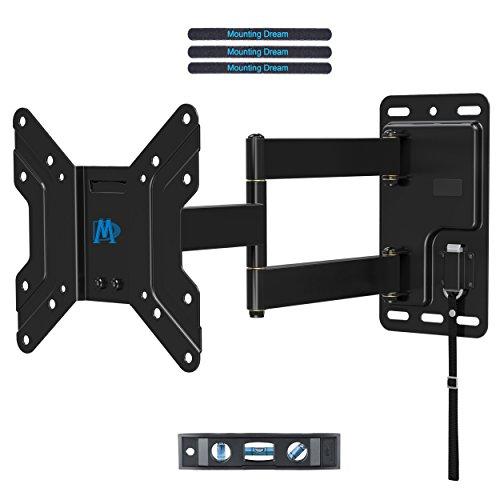 Mounting Dream RV TV Wandhalterung für Wohnwagen/Campingwagen Schwenkbar/Neigbar/Ausziehbar/Abschließbar Fernsehhalterung für die meisten 43cm-100cm (17-39 Zoll) LED, LCD, OLED und Plasma Flach Bildschirm TVs mit VESA 100x100-200x200mm bis zu 20kg, MD2210-03 (Bild-tv-wandhalterung)