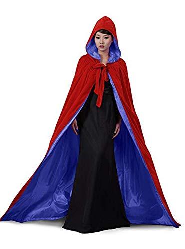 Lange Mäntel Unisex Samt Halloween Kapuzen Umhang Adult Kostüm Weihnachten Cosplay Kostüm Capes