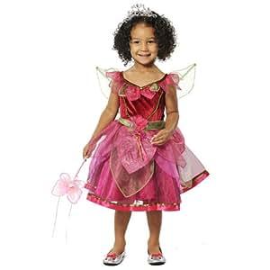 girls deep pink scarletta fairy princess fancy dress party