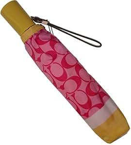 Coach Logo Signature Parapluie Style 63582, Rose/Jaune/multicolore
