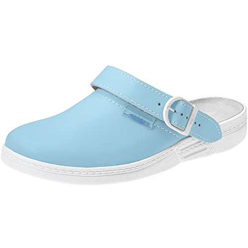 "Abeba 7081 ""L' originale occupational-clog Scarpe light blue/white"
