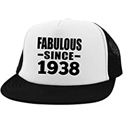 Idea Regalo - 81st Birthday Fabulous Since 1938 - Trucker Hat Berretto da Camionista Golf Baseball - Regalo per Compleanno Anniversario Festa della Mamma del papà Pasqua