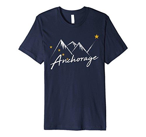 Anchorage Alaska Flag Mountains Shirt Distressed State Souve - Alaska-kinder-t-shirt