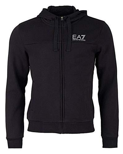 EA Felpa EA7 Emporio Armani 7 6ZPM45 Uomo Nero Cappuccio Zip Giacca Logo -  Taglia L 2396f0f08f7