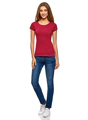oodji Ultra Damen T-Shirt Basic Aus Baumwolle (2er-Pack) Mehrfarbig (19WEN)
