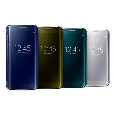 Basic Cellphone Cases Schutzhüllen, Shine Your Phone Pu + pc Spiegel-Fenster Ganzkörper-Fall für Samsung Galaxy Note 4 (farbig Sortiert) (Farbe : Schwarz, Kompatible Modellen : Galaxy Note 4)