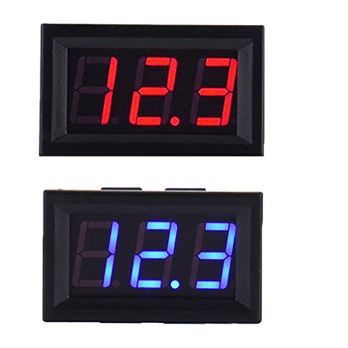 Voltmetre de voitureMoniteur de tension Testeur de batterie Alarme Thermometre de temperature Horloge SODIAL R