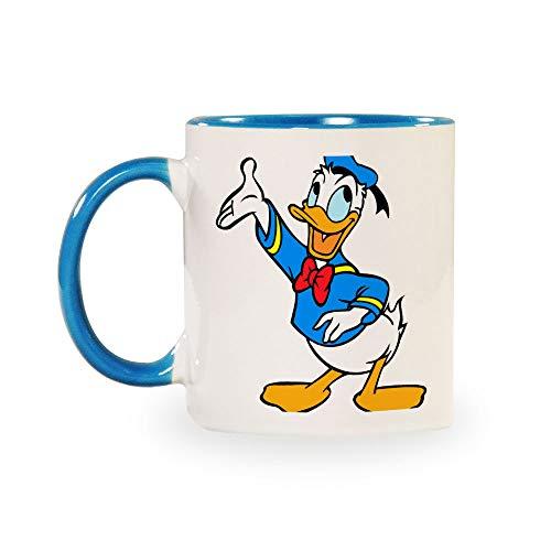 TANGGOOD Donald Duck Lustiger Kaffee Milch Tee Keramiktassen Morgen Tasse Getränke und Hochzeiten, Geburtstage, Vatertag ohne Löffel und Teller