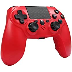Maliralt Manette PS4 sans fil XF04 DualShock 4 Manette Bluetooth sans Fil pour Playstation 4 Manette de Jeu PS4 Rechargeable(fabriqué par tiers) -Rouge