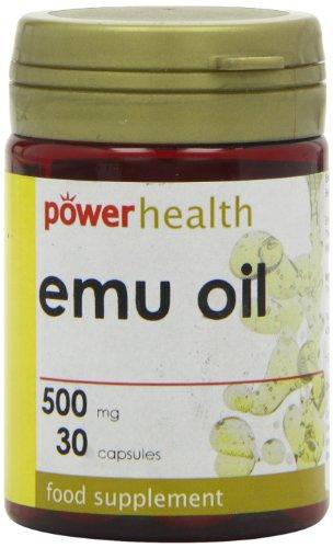 Power Health Emu Oil 500mg 30 capsule - Emu-Öl Vitamin E