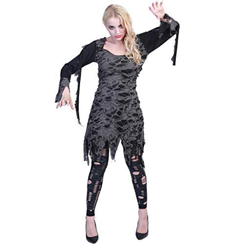 EraSpooky Zombie Untote Damenkostüm Fetzenkleid Damen Kostüm ()