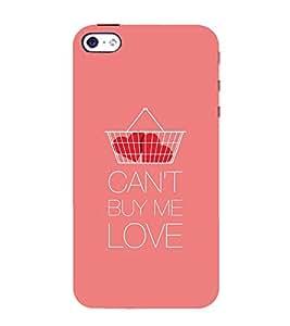 PrintVisa Designer Back Case Cover for Apple iPhone SE (Can't buy me love design :: Nice color design :: Beautiful love letter design :: Soft Pink design :: Stylus color design)