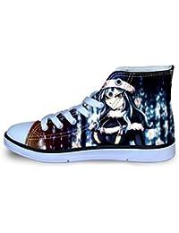 YGHJGOO Fairy Tail Zapatos Zapatos Zapatos de la Zapatilla de Diarios Salvajes Niños Lacing Shoes Zapatos del Ocio de Lona High-Top Calzado niños y niñas