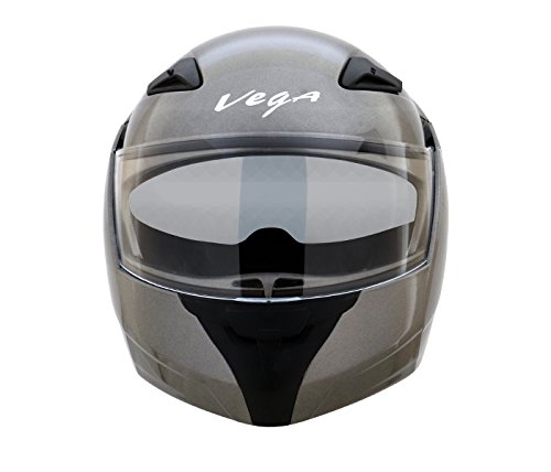 Vega Boolean BLN-A-M Flip-up Helmet with Double Visor (Anthracite, M)