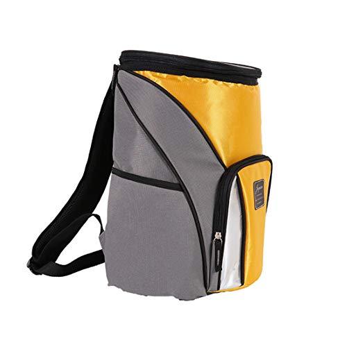 Picknickrucksack, Thermotasche,Große Kühlrucksack,für Junge Mädchen Kind LunchTasche,Aufbewarung des Warmen und Kalten Essen Camping Wandern Picknick,Beige
