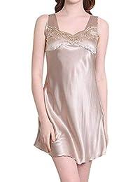 7f5eb1fca0 Camicia da Donna Senza Maniche Chemise Slip da Camicia Casuale Donne Notte  Camicia da Notte in