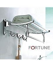 FORTUNE Stainless Steel Folding Towel Rack 24 inch SteelGlo