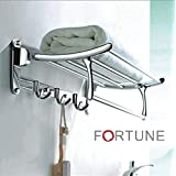 Fortune Stainless Steel Folding Towel Rack (24 inch) Pack of