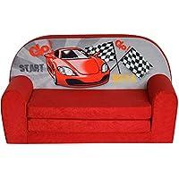FORTISLINE Kindersofa Mini zum Aufklappen Racing Car W386_02 preisvergleich bei kinderzimmerdekopreise.eu