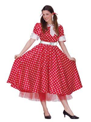 Kostüm Fifties Girl Rot Weiß Gr. M Rockabilly Rock n Roll 50er 60er Karneval Boland - Fifties Girl Kostüm