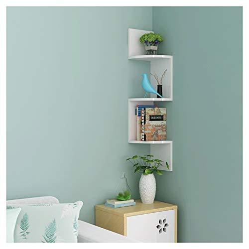 Wandregal Schweberegale Mehrschichtiges Bücherregal-Dekoration-Sich hin- und herbewegendes dreieckiges Regal-Wand-Lagerregal für Wohnzimmer Schlafzimmer-Studie, MDF UOMUN