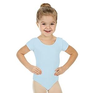 elowel | Mädchen | Sport-Ballet-Tanztrikot | Gymnastikanzug, Leotard | Kurzarm – Beinausschnitt G (Gym) | Elegant & Bequem Größen (2-14 Jahre) erhältlich