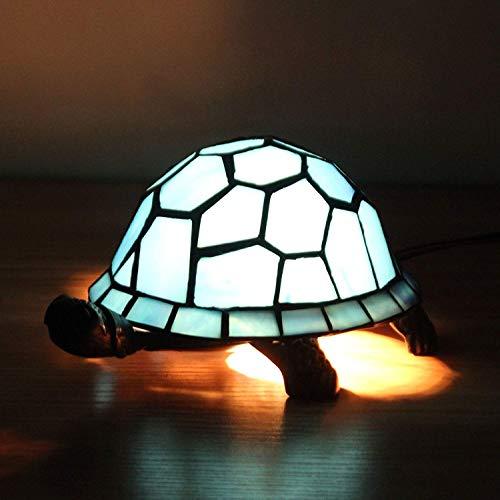 SOHOH Europäische Kreative Blaue Schildkröte Tischlampe Dekoration, Schlafzimmer Nacht Warme Farbe Lichtquelle Lampen, Arbeitszimmer Wohnzimmer Kinderzimmer Nette Nachtlicht Ohne Lichtquelle