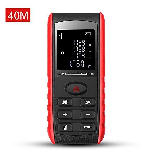 Digitaler Laser-Entfernungsmesser, 60 m, Hintergrundbeleuchtung, LCD-Lasermessgerät mit Einzeldistanz, kontinuierlich, Fläche, Volumenmessung und Pythagorea-Modi - E60 Lcd