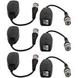 Uxcell 3 Pairs 1CH Passive UTP Transmitter Receiver BNC Video Balun Transceiver For CCTV Camera