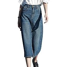 low priced 37194 a38cb Amazon.it: Gonna jeans longuette
