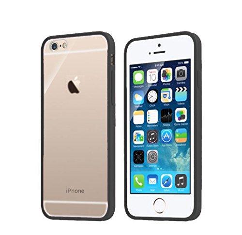 Apple iPhone 6(11,9cm)-Ultra Dünn Transparent Klar Back Bumper Hülle + GRATIS Displayschutzfolie by OM Nachrüst Retrofit Frame