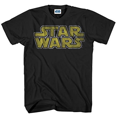 Star Wars Herren Classic Vintage Simple Logo T-Shirt, schwarz, Mittel (Star Classic Wars-t-shirts)