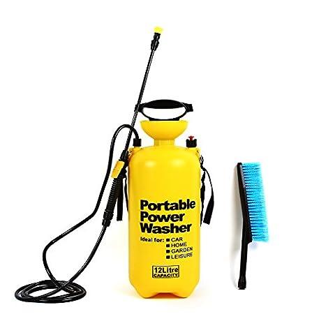 Femor 8L/10L/12L Portable Pressure Washer Sprayer Jet with Wash Brush and Lance for Car Trucks Vans