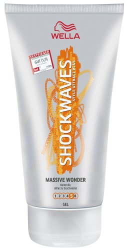 Wella Shockwaves Wonder Haargel Massive, 3er Pack (3 x 150 ml)