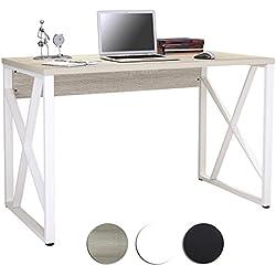 Mesa de ordenador Roble/Blanco Óptica madera S-349/1851