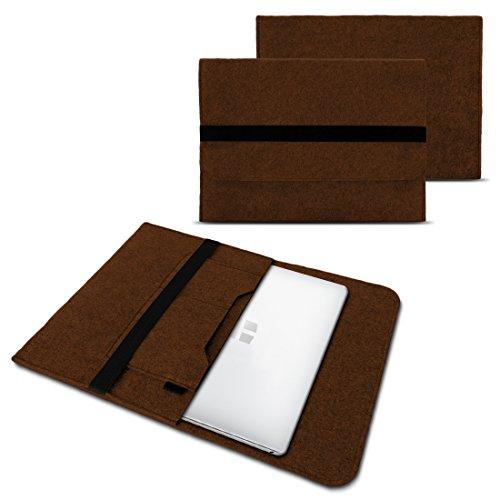 Trekstor Primebook C13 Notebook Sleeve Hülle Laptoptasche Schutzhülle 13,3 Zoll Laptop Filz Case, Farben:Braun
