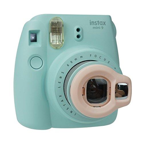 Anter Close Up Objektiv mit Instax Selfie Objektiv für Fujifilm Instax Mini 9 Mini 8 Mini 8+ Mini 7s Instant Film Kamera - Racket Pink