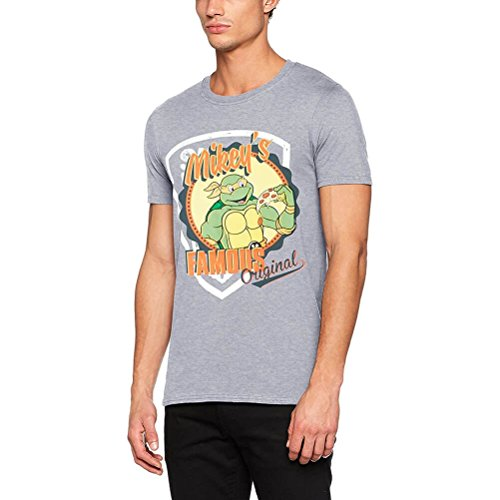 CID Herren T-Shirt Teenage Mutant Ninja Turtles-Mikey'S Original, Grau, M