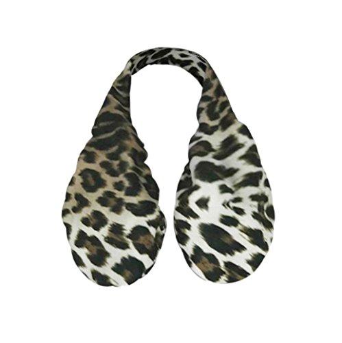 Leopard Ta-Ta Handtuch,Routinfly Frauen Sexy Wireless Handtuch BH Soft Boob Hängematte Schweiß Handtuch (S, Braun) (Trikot Leopard Kostüme)
