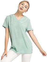 8ee7dfe867d6 LilySilk Seidenhemd V-Ausschnitt Damenhemd Damenbluse Hemd Bluse Tunika  Damen aus Seide von 16 Momme