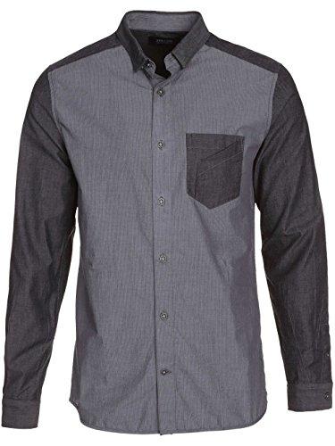 Herren Hemd lang Volcom Wheeler Shirt LS Navy