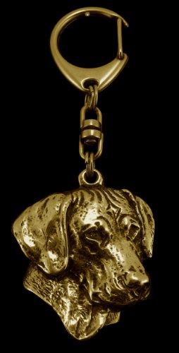 Preisvergleich Produktbild Rhodesian Ridgeback, African Lion Boy African Lion Girl, Feingehalt 999, Hund, Gold, Schmuckanhänger, Anhänger, Schlüsselanhänger, Limitierte Edition, Art Dog