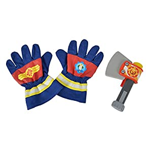"Simba 109252105"" Fireman Sam Firefighters Gloves and Axe, Boys, XS"