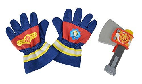 Simba 109252105 Feuerwehrmann Sam Feuerwehr Handschuhe und Axt