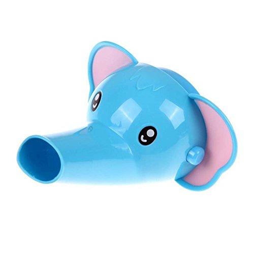 UxradG - Grifo extensor de plástico para cocina, baño, grifo, grifo de agua para niños, lavado a mano en el baño, accesorios para lavabo elephant elefante